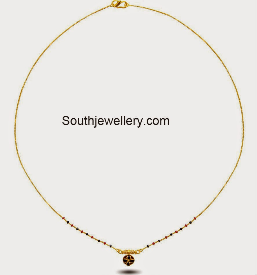 Light Weight Short Mangalsutra Chains - Jewellery Designs
