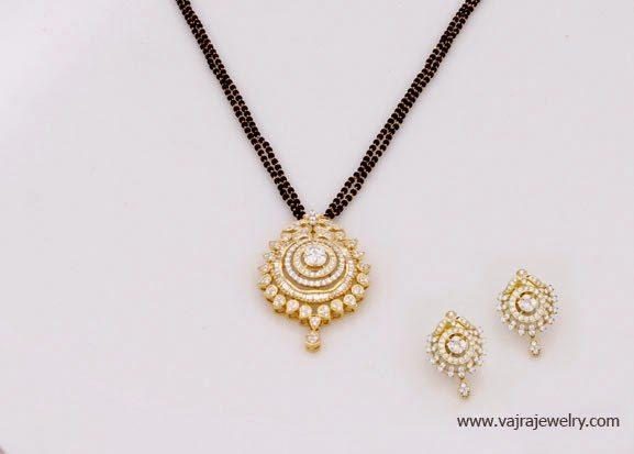 Short Black Beads Mangalsutra Models Jewellery Designs