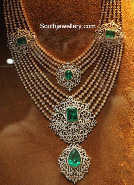 Layered Diamond Haram Jewellery Designs