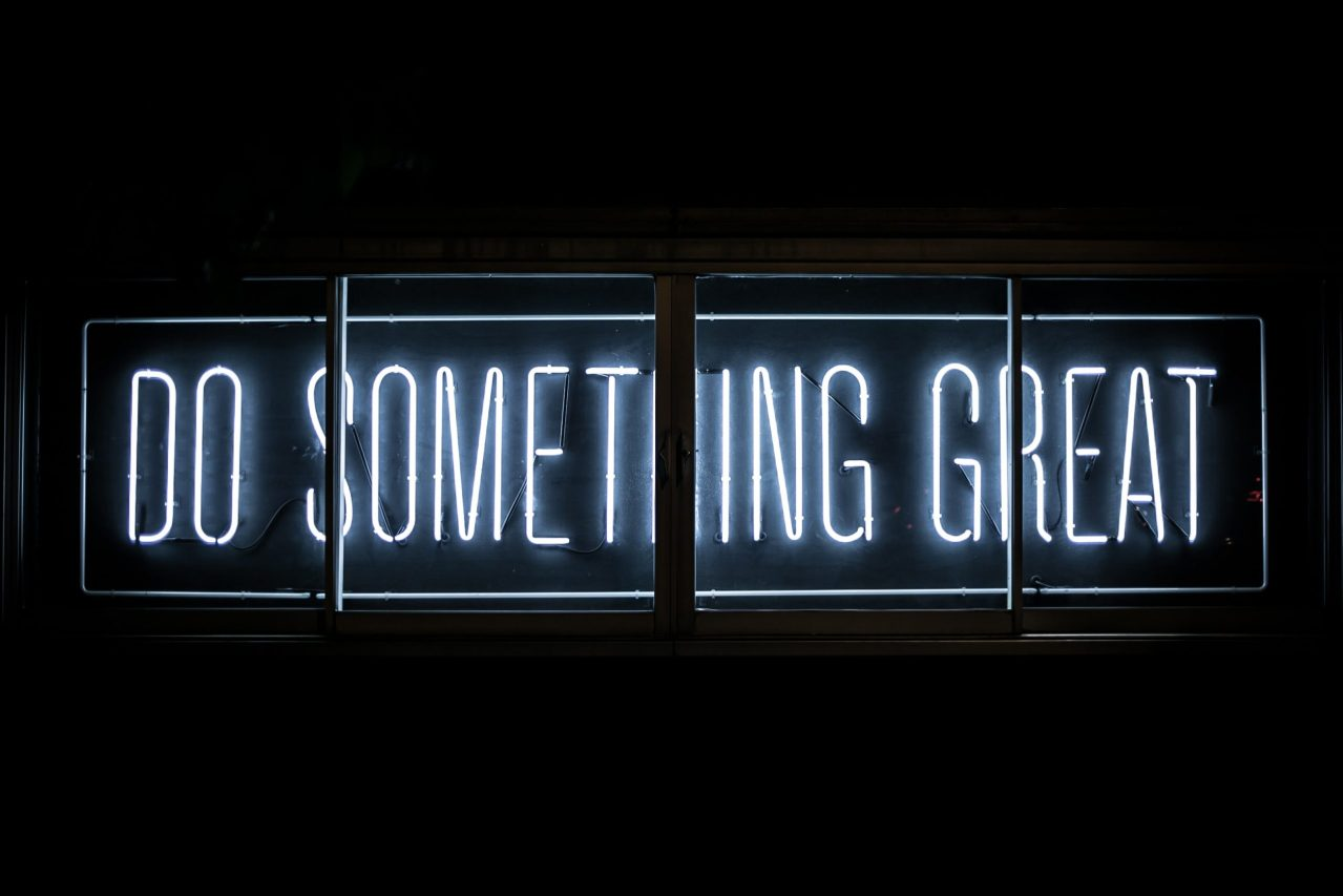 Donate to South Kent Mind - Do Something Great neon sign