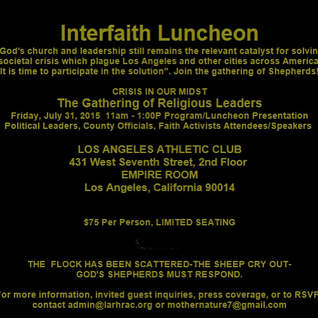 2015 Interfaith Luncheon