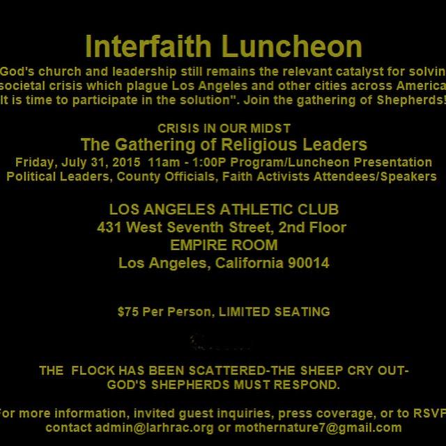 2015 Interfaith Luncheon