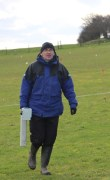 Dr Chris Gaffney providing a magnetometry survey at Birstall