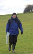 Dr Chris Gaffney providing a magnetometry survey at Birstall