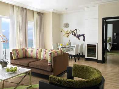 The Palms Hotel & Spa _ Bedroom Suite Living