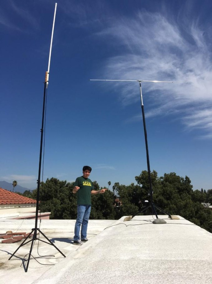 Tribander and Homebrew 6m Dipole