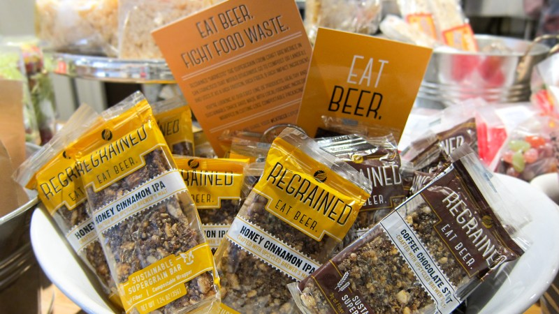 Want to eat beer? Try Regrained's Granola Bars