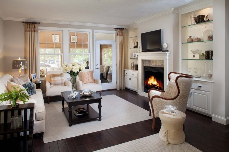 Fireplace Decorating Ideas for Your New Retirement Home on Cape Cod     Hyannisport Living Room
