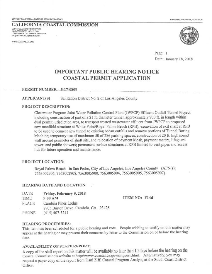 coastal permit hearing notice