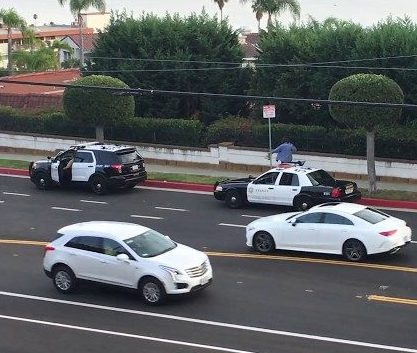 sheriffs drop off homeless man at San Pedro border.
