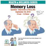 Memory Loss Workshop September 29