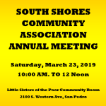 SSCA Annual Meeting, March 23