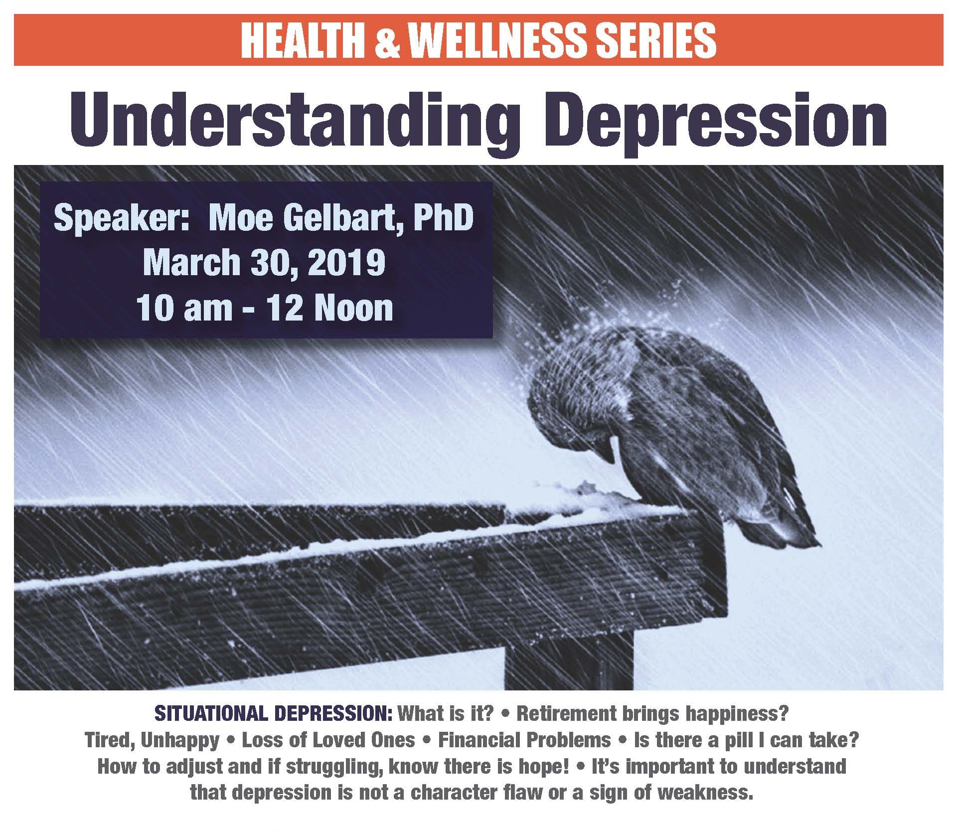 Understanding Depression, March 30
