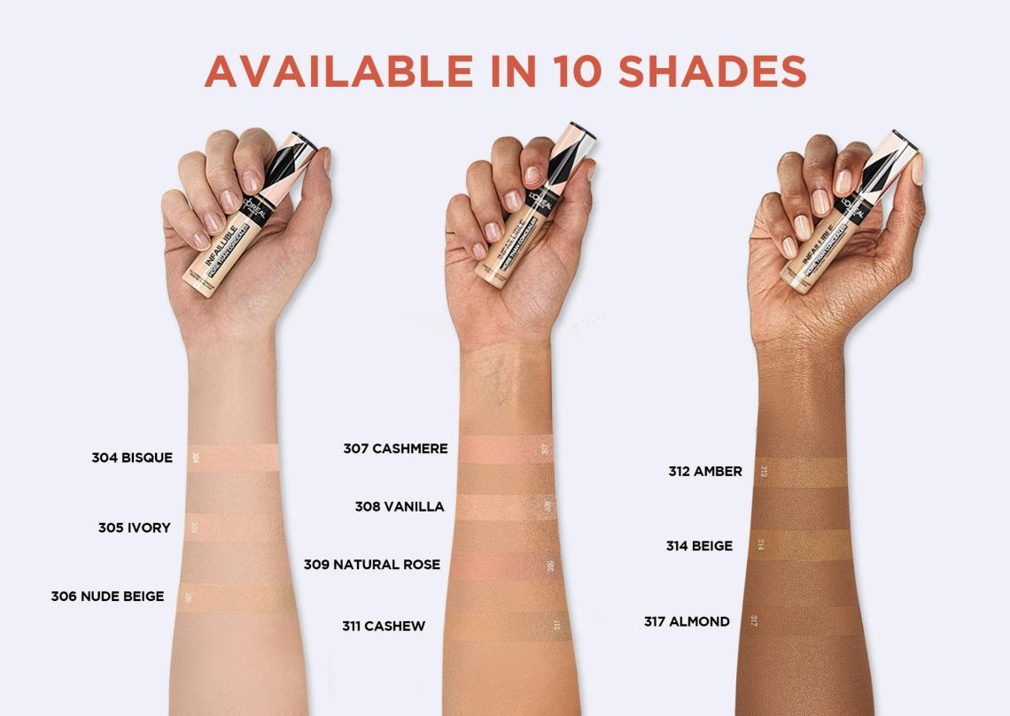 L'Oreal Infallible Full Wear Concealer Shades