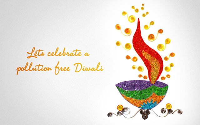 Pollution-free Diwali quotes and wallpaper