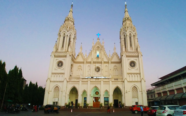 Our Lady of Dolours Church in Thrissur Keraela