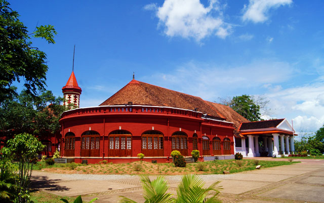 Facet of Kanakakkunnu Palace in Thiruvananthapuram, Kerala