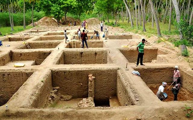 A glimpse of Keezhadi excavation process