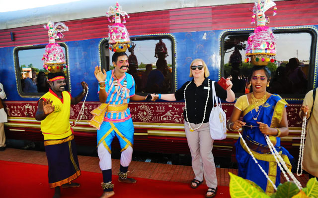 Welcoming our clients with traditional Karakattam dance (one of the traditional dance form of Tamilnadu)