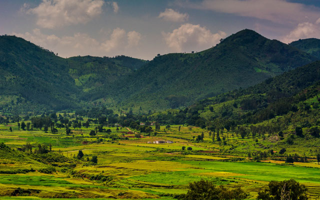 A beautiful view of Araku valley landscape in Andhra Pradesh, India.