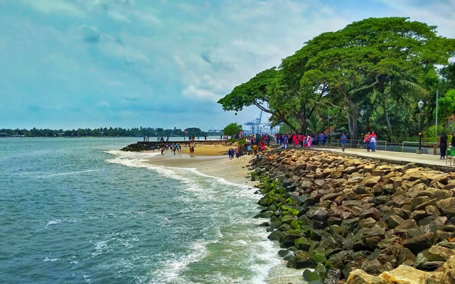 A beautiful view of Fort Kochi beach sea shore.