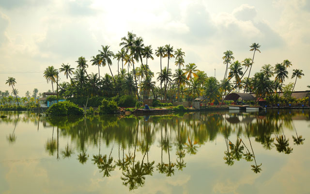 A scenic view of Kumbalangi village in Kochi, Kerala