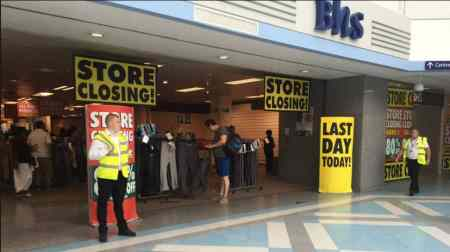 BHS Closure - large sales take place to get rid of remaining stock