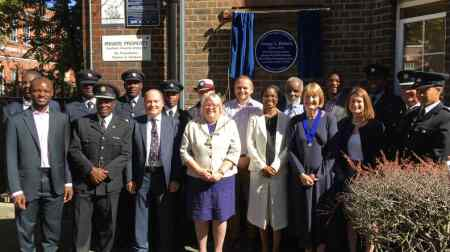 The London Fire Brigade and politicians turned out for George Arthur Roberts's Blue Plaque