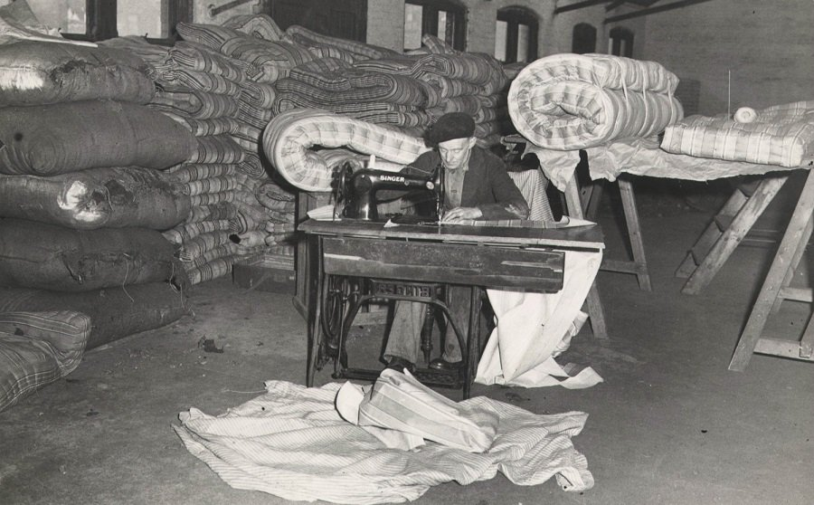 Mattress making at Salvation Army Spa Road (Salvation Army International Heritage Centre)