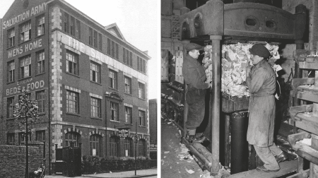 The Salvation Army hostel and recycling centre opened in Spa Road, Bermondsey, in 1899 (Salvation Army International Heritage Centre)