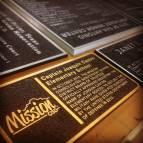 Cast Bronze and Aluminum Plaque