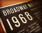 Broadway Cast Metal Plaque