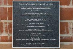 Woman's Empowerment Garden Aluminum Plaque