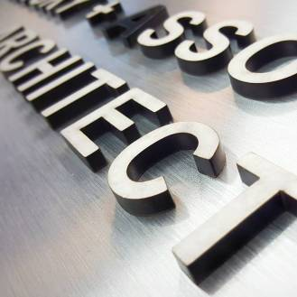 Cut out Metal Letters