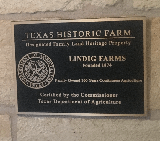Image from Customer. Texas Family Land Heritage Plaque.