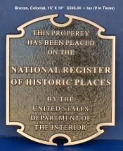 Colonial Plaque Bronze