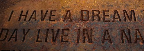 I have a dream, Martin Luther King Jr. Corten steel plaques