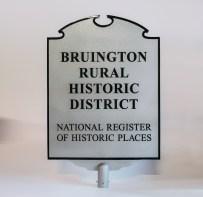 "Bruington Historic District Aluminum 36"" h x 28"" w post plaque"