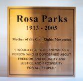 Rosa Parks dedication and memorial plaque