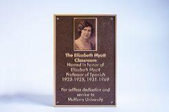 Cast Bronze plaque with a UV Print insert