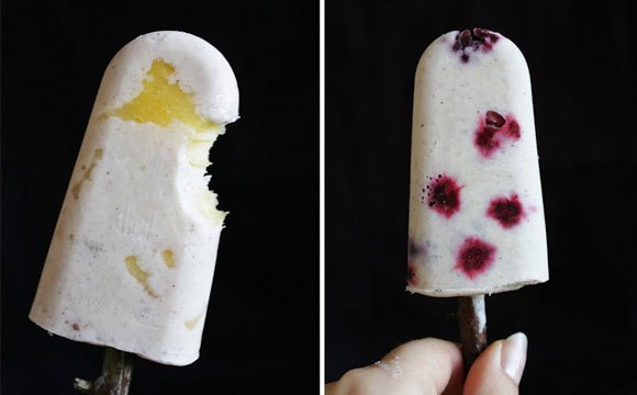 fruit popsicles with coconut milk