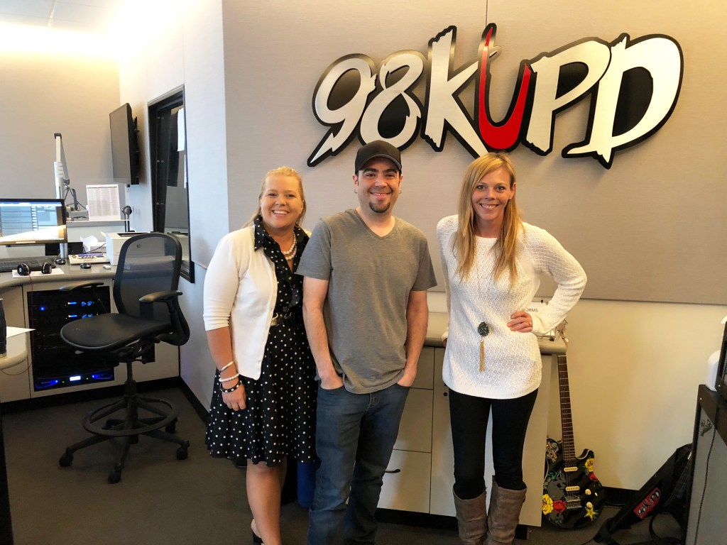 Hanging with Larry McFeelie at 98KUPD