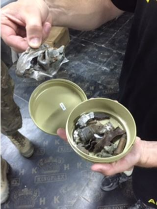 shrapnel extracted from soldiers