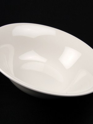 "WHITE CHINA SALAD BOWL 10"" ROUND"