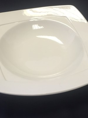 "SIMPLICITY SQUARE 11"" WHITE CHINA BOWL"