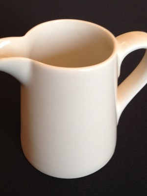 WHITE CHINA MILK JUG 9oz