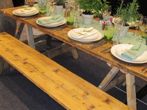 Vintage Plank Bench ( Seats 4 )