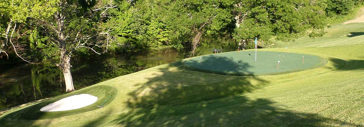 Beautiful Putting Green By River