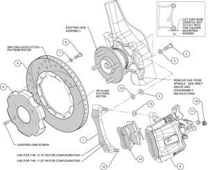 WILWOOD DISC BRAKE KIT,HONDA CIVIC,CRX,240mm,11