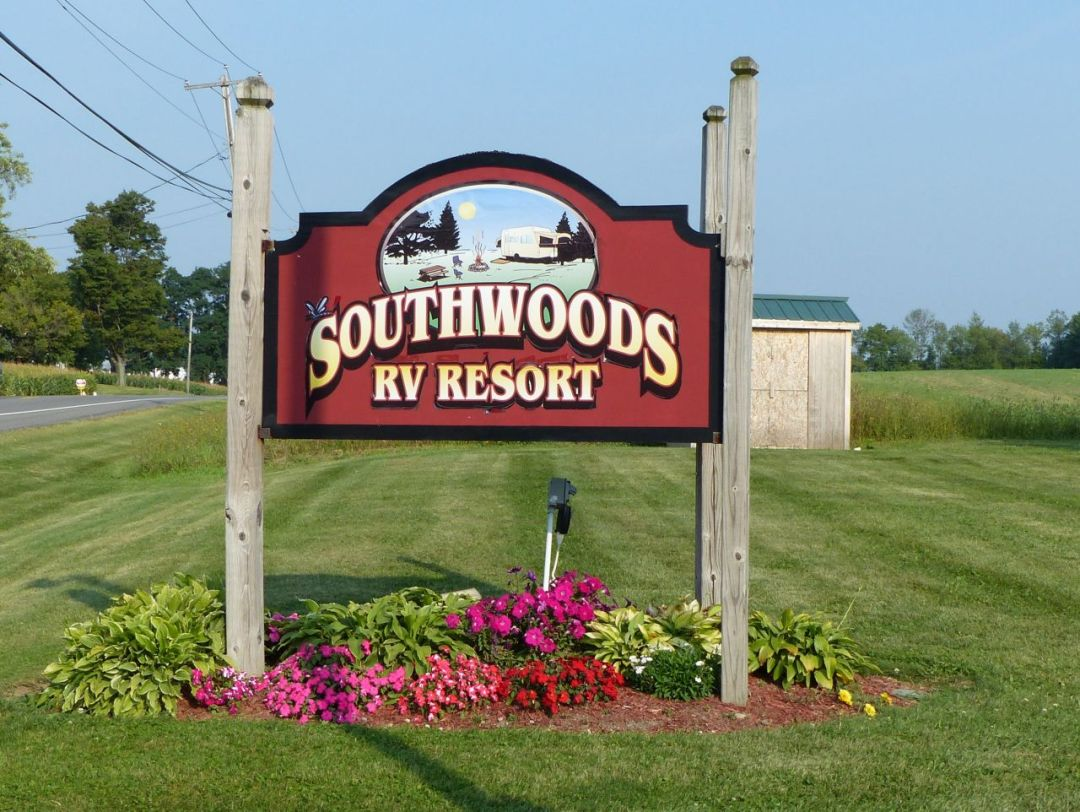 Campground Entrance Sign